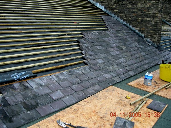 Slate roofs for Contemporary roofing materials